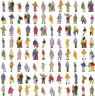 人形 人物 人々 人間 人間フィギュア 塗装人 情景コレクション ザ ・ 鉄道模型・ジオラマ・建築模型・電車模型に 11mm スケール:1/150 100個セット