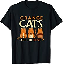 Funny Orange Cats are the best cat mom T Shirt T-Shirt