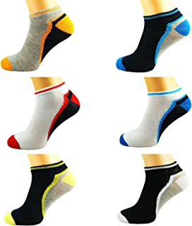 CLICKTOSTYLE 3 PAIR MENS COLOURED BREATHABLE QUALITY TRAINER LINER ANKLE SOCKS UK SIZE 7-11