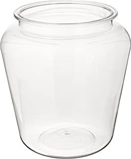 Koller Products 1-Gallon Fish Bowl, Shatterproof Plastic with Crystal-Clear Clarity, 7.25 DIA x 8 H Inches