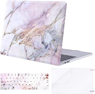 MOSISO MacBook Pro 13 inch Case 2019 2018 2017 2016 Release A2159 A1989 A1706 A1708, Plastic Pattern Hard Shell & Keyboard Cover & Screen Protector Compatible with MacBook Pro 13, Colorful Marble