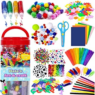 1000PCS Arts and Crafts Supplies for Kids Toddler DIY Art Craft Kits Crafting Materials Toys Set for School Home Projects ...