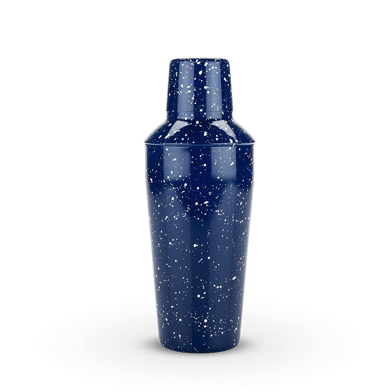 Foster & Rye 4653 Enamel Cocktail Shaker and Jigger Set, Blue