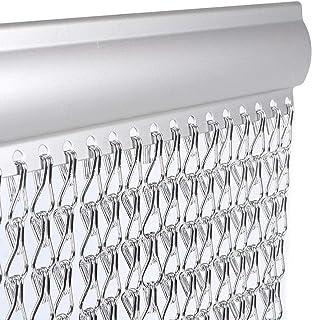 Vermatik Prawdziwa moskitiera 90 cm x 210 cm wysokiej jakości aluminiowa zasłona na drzwi na drzwi, ochrona przed owadami,...