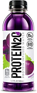 Protein2o 15g Whey Protein Infused Water, Harvest Grape, 16.9 oz Bottle (Pack of 12)