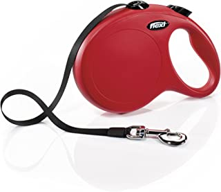 FLEXI Classic Retractable Dog Leash in Red, 26'