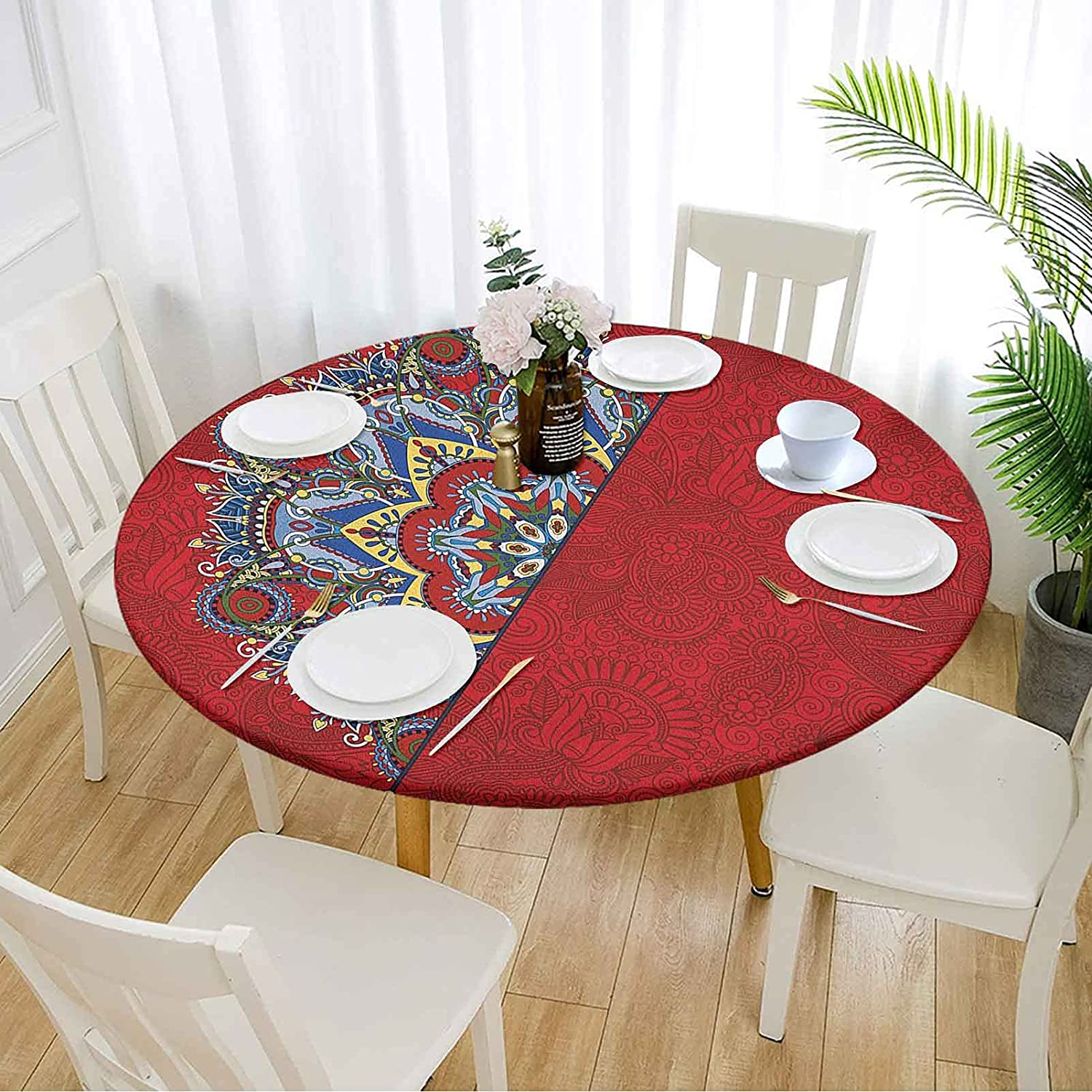 Red Round Table Cover 60