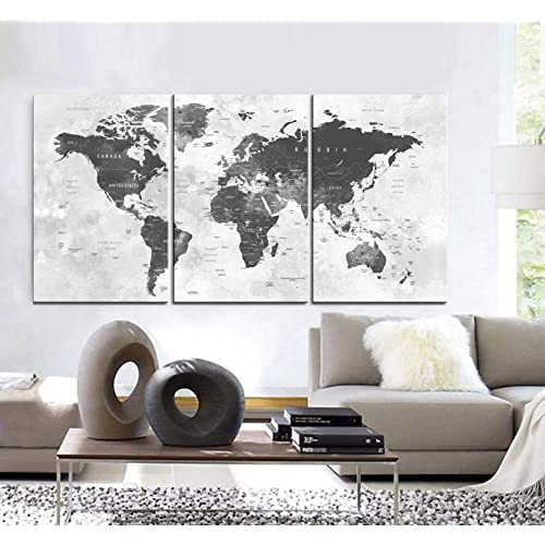 World Map Wall Decor Amazon Com