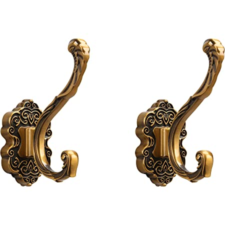 Vintage Retro Holder DIY Hardware Antique Brass Wall Coat Hooks Key Bag Hanger