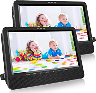 WONNIE 10.5 Portable Dual DVD Players with Two Mounting Brackets, 1024x800 HD LCD TFT, USB/SD/MMC Card Readers, Built-in 5...