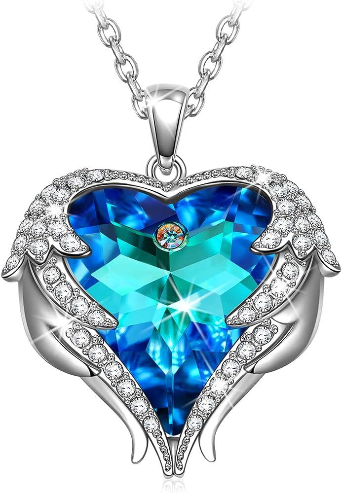 Kate lynn collana, cristallo di swarovski ciondolo di cristallo cuore design originale KLNT6647BB