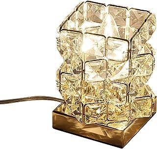 (セーディコ)Cerdeco まるでオーロラのような煌き… 空間を彩る 手軽に贅沢 テーブルライト ユニークな立方体パズルデザイン 手作業で作る デスクライト インテリア 間接照明 クリスタル ガラス レインボー ゴールド サイズ145x100...