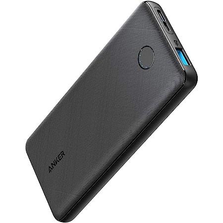 Anker PowerCore Slim 10000(モバイルバッテリー 大容量 薄型 10000mAh)【USB-C入力ポート/PSE技術基準適合/PowerIQ & VoltageBoost/低電流モード搭載】iPhone & Android 各種対応(ブラック)