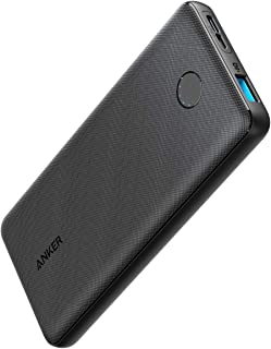 Anker PowerCore Slim 10000(モバイルバッテリー 大容量 薄型 10000mAh)【USB-C入力ポート/PSE認証済/PowerIQ & VoltageBoost/低電流モード搭載】iPhone & Android 各種対応