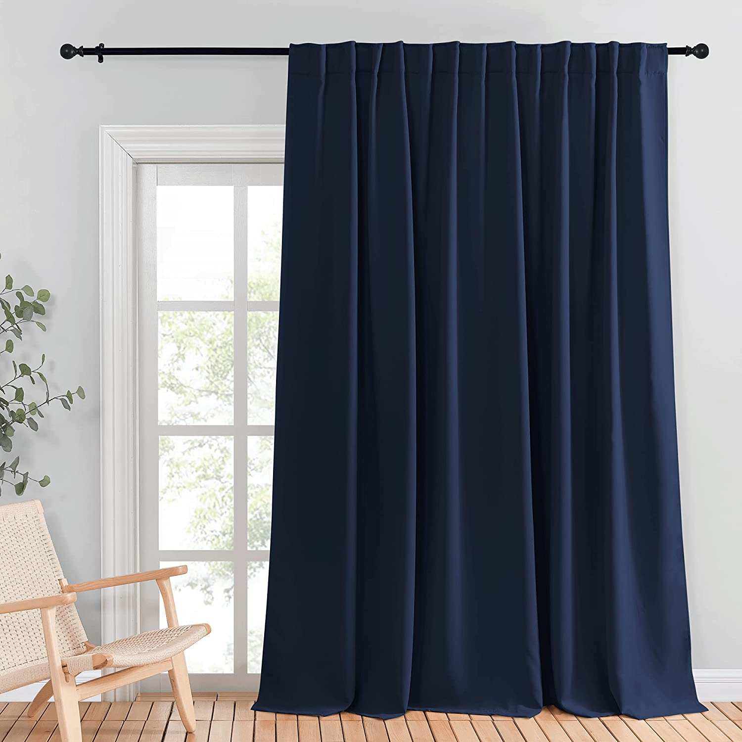 NICETOWN 予約 Blackout Wide Sliding 正規品スーパーSALE×店内全品キャンペーン Door Curtains Insulated Noise - R