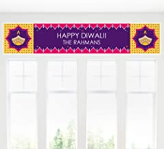 Big Dot of Happiness Personalized Happy Diwali - Custom Festival of Lights Party Decorations Party Banner