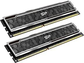 Silicon Power Gaming Series DDR4 16GB (8GBx2) 3200MHz (PC4 25600) 288-pin CL16 1.35V UDIMM Desktop Memory Module RAM with Heatsink Grey SP016GXLZU320BDAJ5