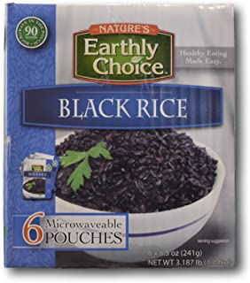 Nature's Earthly Choice Black Rice (6 Pouches x 8.5oz)