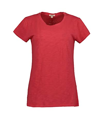 Dylan by True Grit Soft Slub Cotton Classic Crew Neck Tee (Hot Red) Women