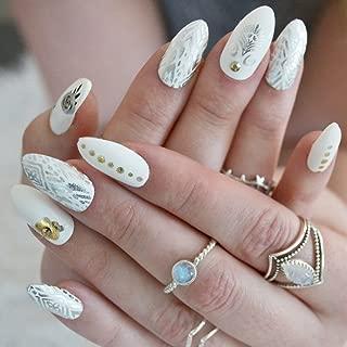 BOHO NAIL ART SET - 10 sheets of metallic foil bohemian nail Flash Tattoos – nail decal, nail sticker, nail art, metallic foil nails