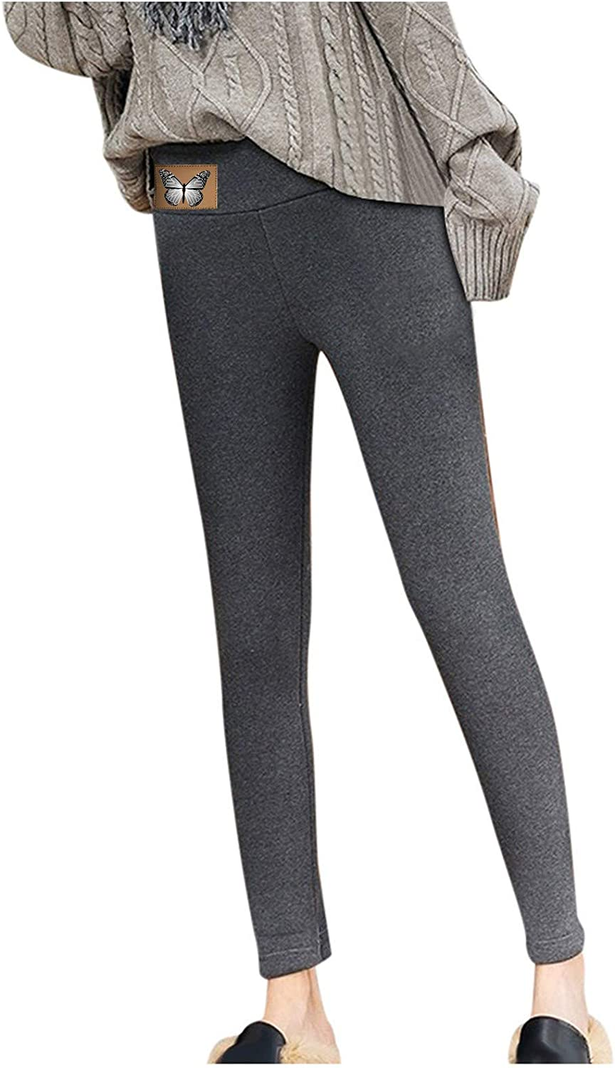 Long Leggings for Women Winter Fleece Pants Safety and trust Casual Warm Popular Lined Hi