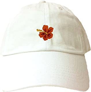 61c08998d06 Go All Out Adult Hawaiian Flower Hibiscus Embroidered Dad Hat