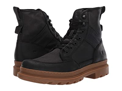 Frye Scout Boot (Black Suede/Waxy Canvas) Men