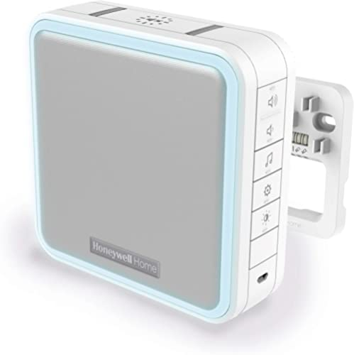 Honeywell Home DW915S Series 9 Portable, Wireless or Wired LED Doorbell Chime (White)