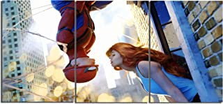 Spiderman Classic kiss Canvas Posters Home Decor Wall Art Framework 3 Pieces Paintings for Living Room HD Prints Movie Pictures