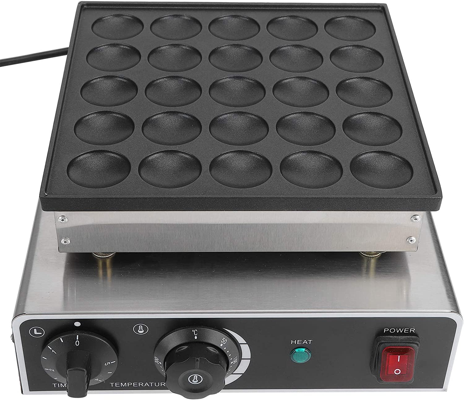 Commercial Electric outlet Muffin Machine 25-Holes 950W Stainless Bombing new work Stee