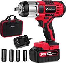 """20V MAX Cordless Impact Wrench with 1/2""""Chuck, Max Torque 330 ft-lbs, 3.0A Li-ion.."""
