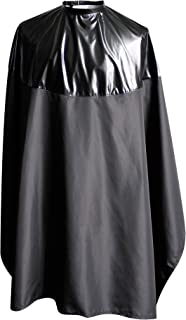 "SMARTHAIR Professional Salon Cape Polyester Haircut Apron Shampoo & Chemical Resistant Haircut Cape,54""x62"",Black,C007011"