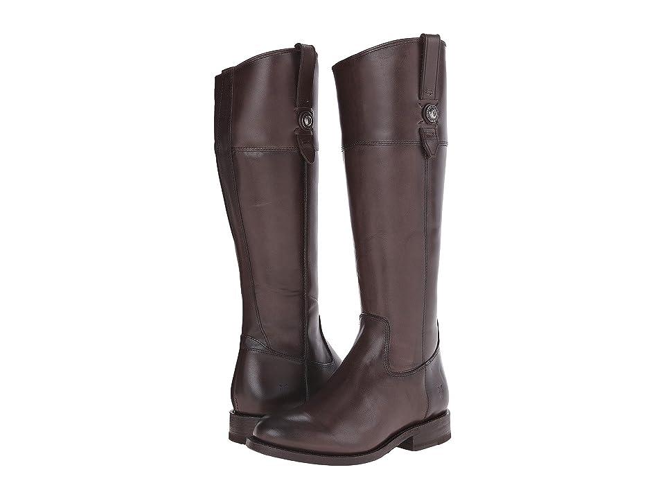 Frye Jayden Button Tall (Dark Grey Smooth Vintage Leather) Cowboy Boots