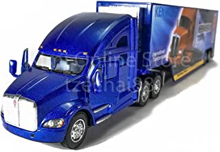KiNSMART 1:68 Die-cast Kenworth T700 Container Truck Blue Color Model Collection New Gift