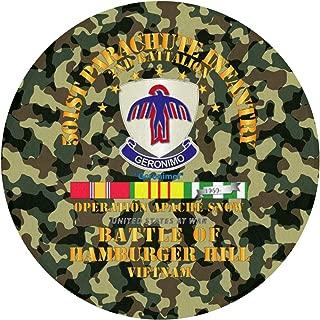 Readoormat Hamburger Hill - 2nd Bn 501st PIR W SVC Ribbons Waterhog Non-Slip Doormat,Indoor/Outdoor,Skid Resistant,Easy to Clean 60cm(24inch)