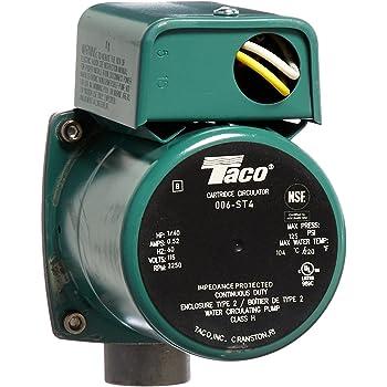 Taco 006-ST4 1/40 HP 115V Stainless Steel Circulator Pump - Sump Pump  Accessories - Amazon.comAmazon.com
