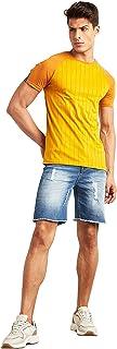 Striped Raglan Sleeves Slim Fit T-shirt 50384237 Dillinger by Styli