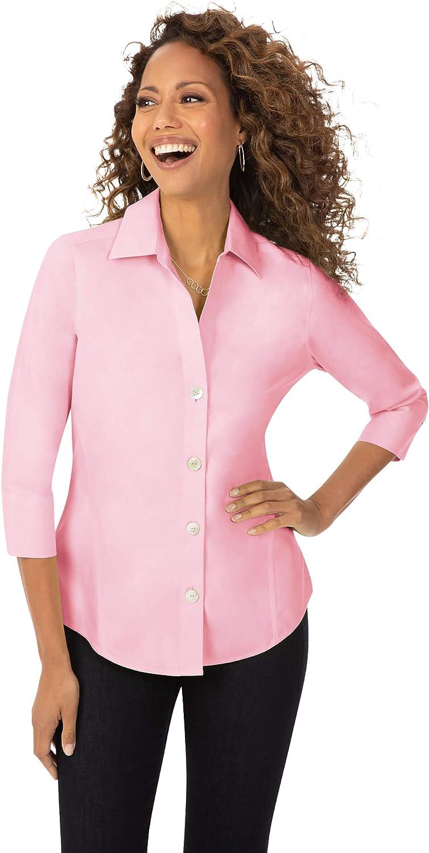 Foxcroft Women's Arlington Mall Paityn Pinpoint Ranking TOP17 Shirt Non-Iron