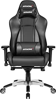 AKRacing Masters Series Premium Gaming Chair with High Backrest, Recliner, Swivel, Tilt, 4D Armrests, Rocker and Seat Heig...