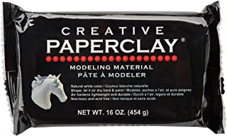 Creative Paperclay for Modeling Compound, 16-Ounce, White