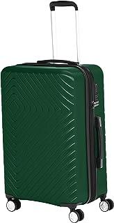 Amazon Basics - Trolley con motivo geometrico, 68 cm, Verde
