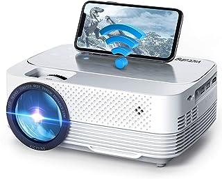 Mini Proyector,VicTsing Proyector WiFi 6000 Lúmenes,, Mini Proyector Portátil de Native 720P,Pantalla Táctil,80000Horas,TV...