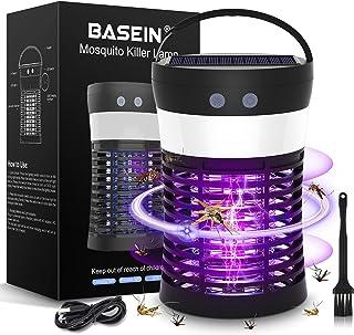BASEIN Lámpara UV Mosquito Killer, Luz Solar Bug Zapper, 3 en 1 Portátil SOS Camping Linterna Mosquito Zapper, Solar y USB...
