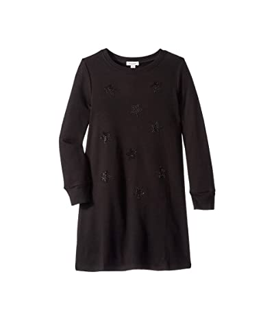 Ella Moss Girl Rhinestone Star Sweater Dress (Big Kids) (Black) Girl
