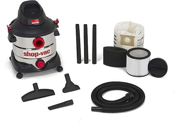 Shop Vac 5979403 8 Gallon 6 0 Peak Hp Stainless Wet Dry Vacuum