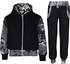Kids Boys Girls Tracksuit Fleece Hooded Hoodie Bottom Jogging Suit Jogger 2-13 Y