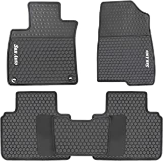 HD-Mart Car Rubber Floor Mat for Honda Accord 10th Generation 2018-2019 Custom Fit Black Auto Liner Mats All Weather, Heavy Duty & Odorless