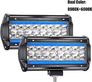 "YUGUANG 7"" Pair CREE LED Projecteur Pure blanc 6000K+8000K Ice Bleu 240W 24000LM 9-30V.."