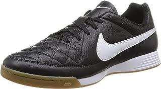 Nike Men's Tiempo Genio Leather Indoor White/Volt/Soar/Black Soccer Shoes
