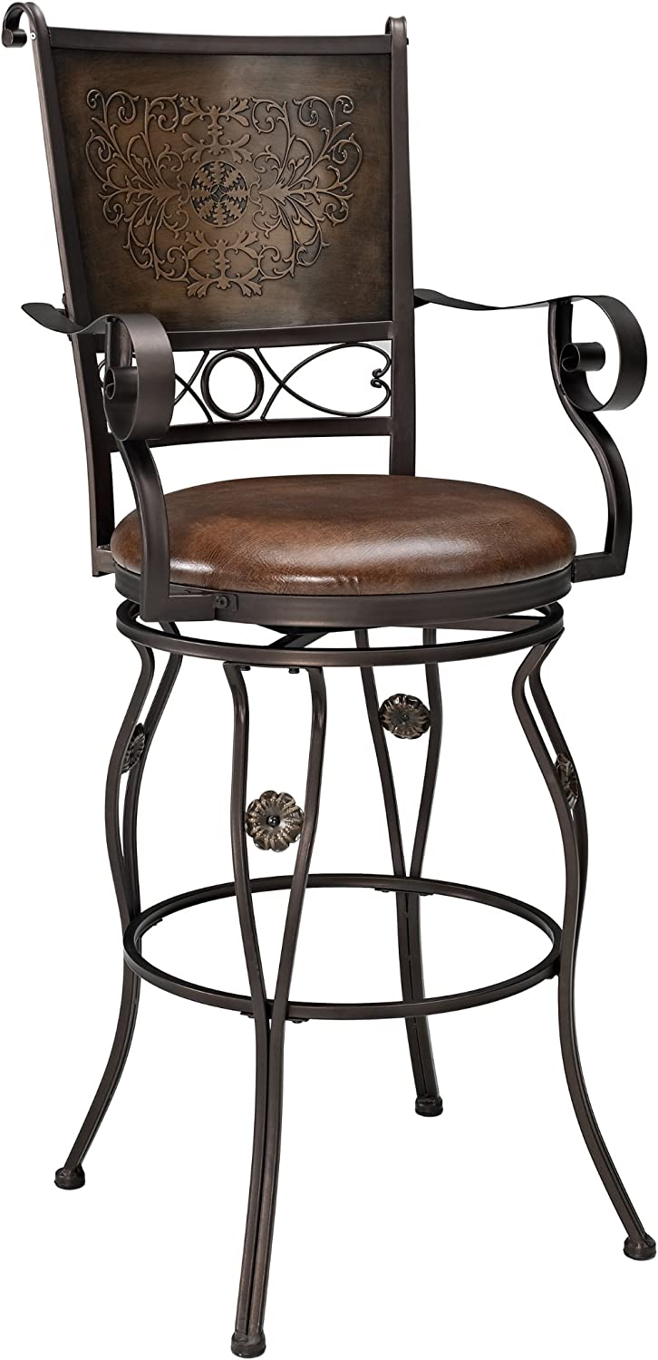 Powell Company Big and Tall Copper with Max 77% OFF Back Stamped Max 65% OFF Ar Barstool